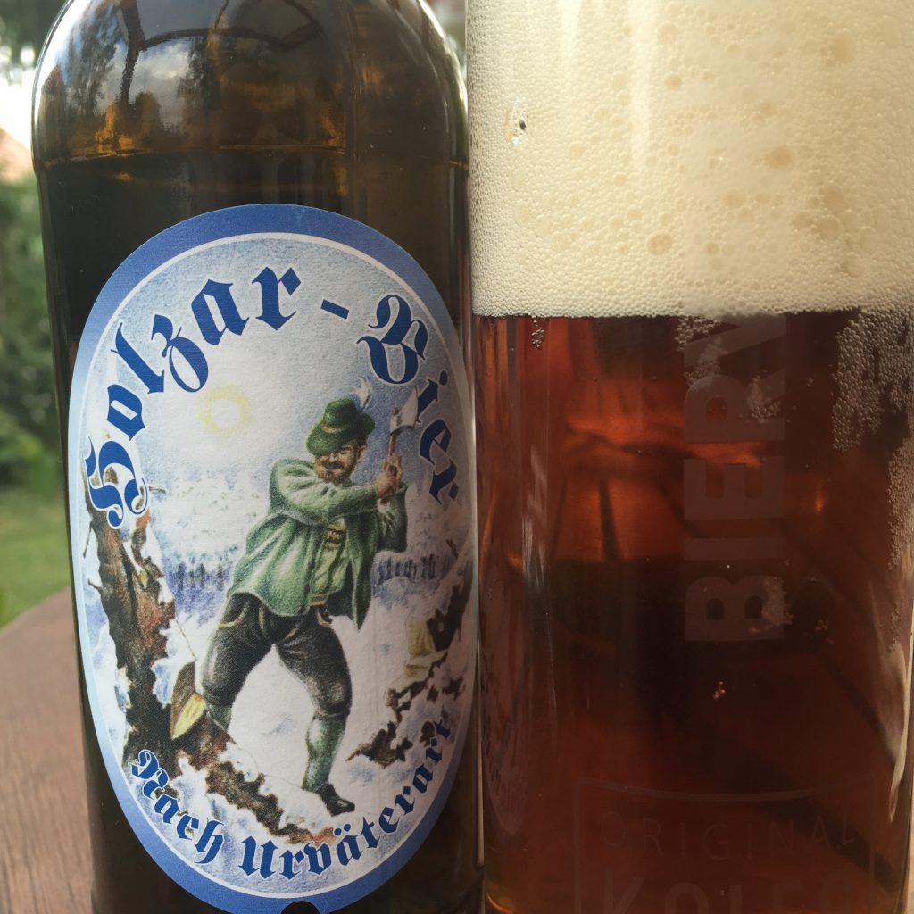 Holzar-Bier von Hirschbräu
