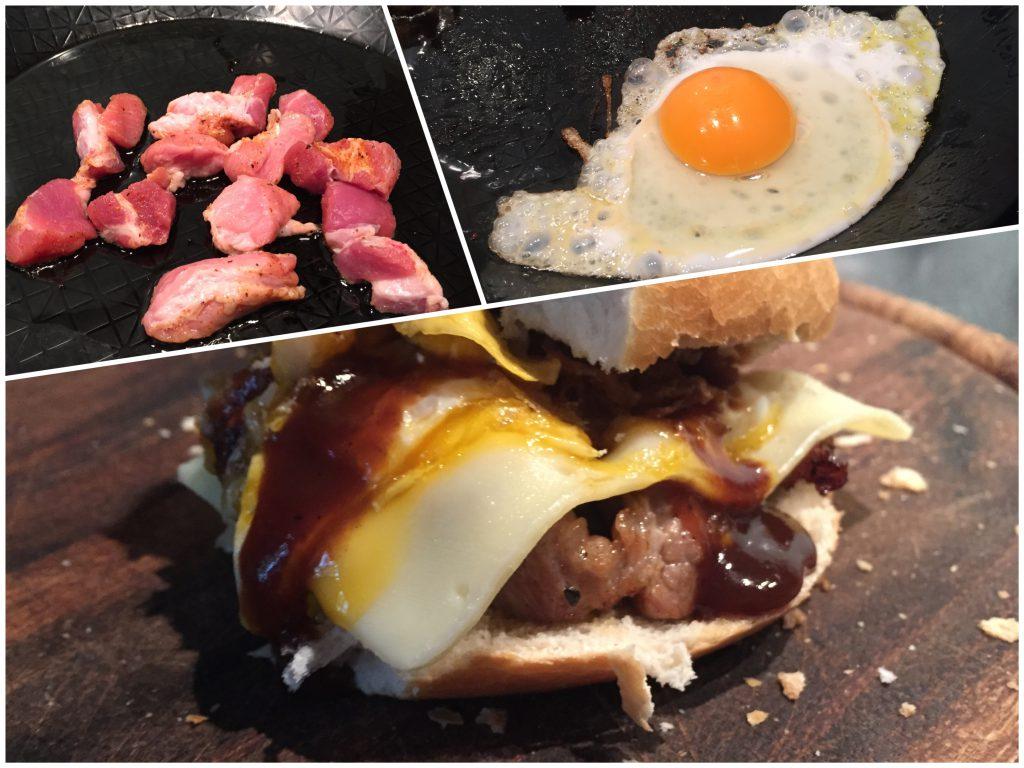 Schweinenacken zum Frühstück