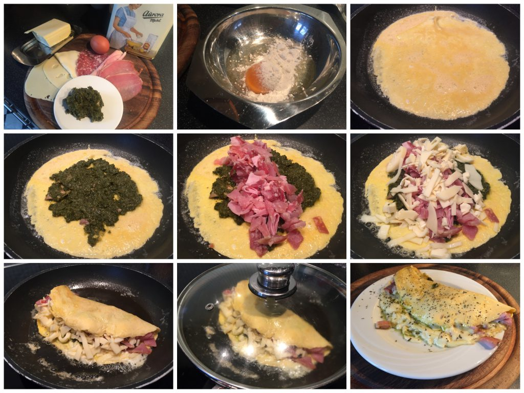 Resteressen 2, Omelett mit Aufschnitt