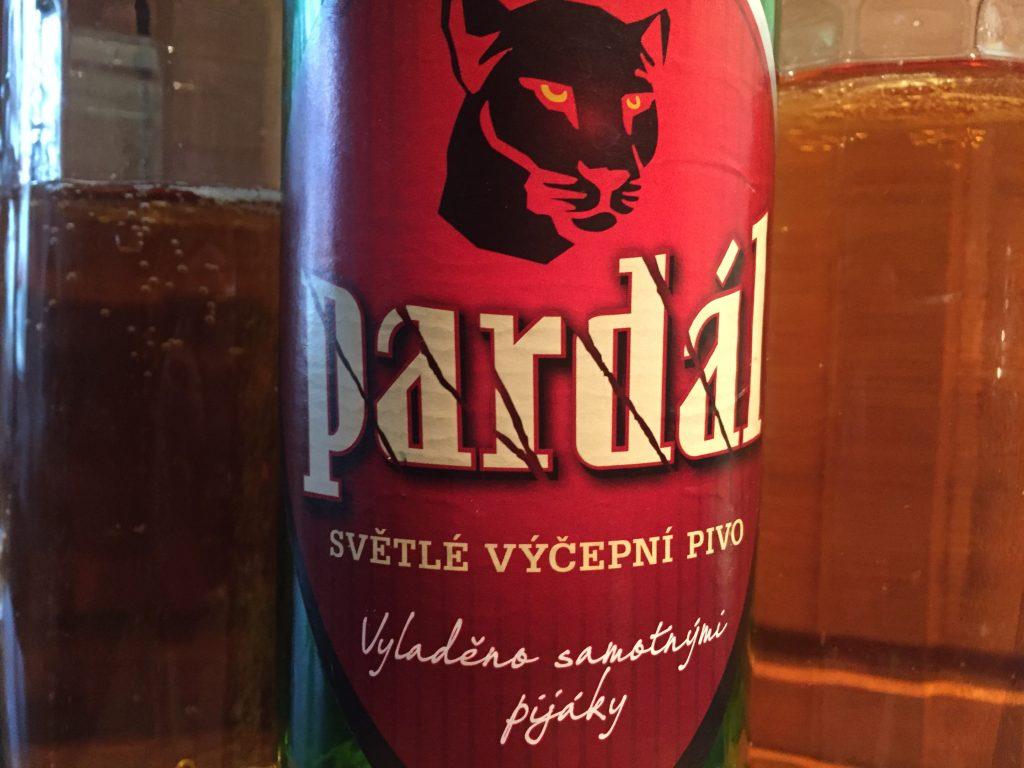 Pardál, Bier aus der Tschechei