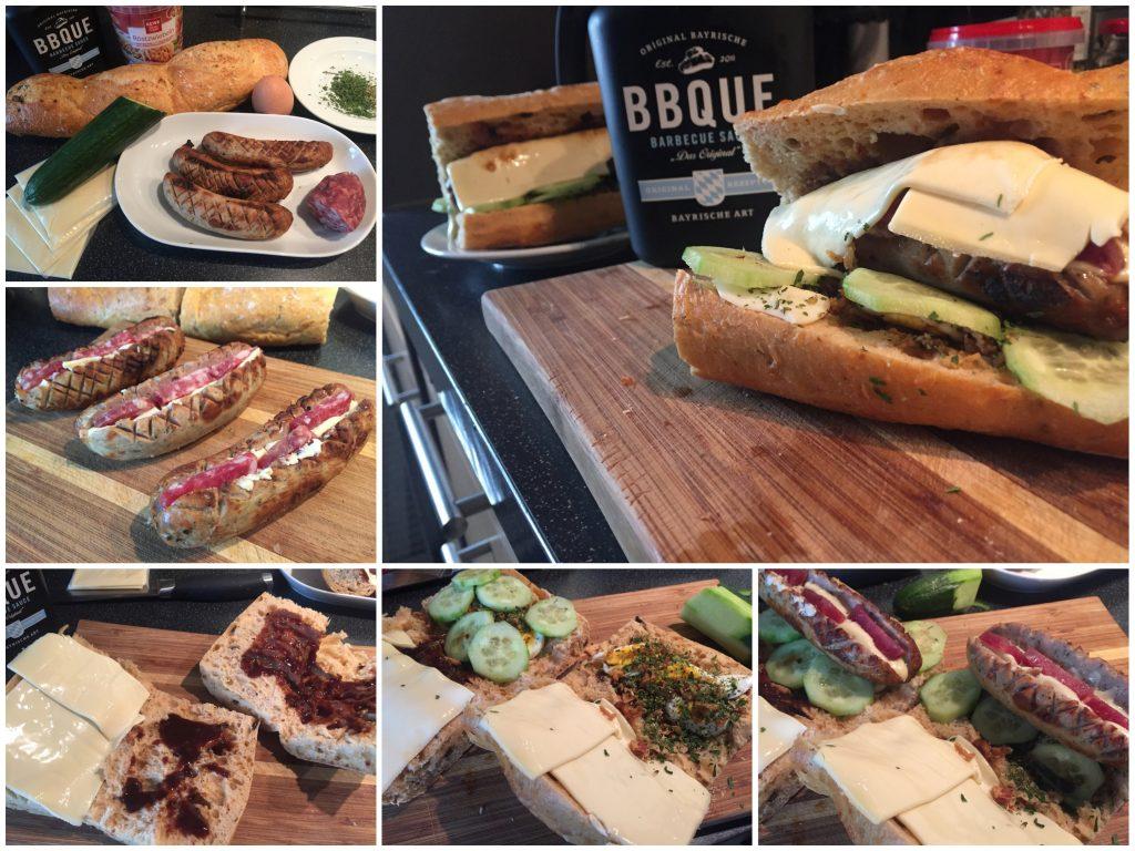 Bratwurst-Baguette