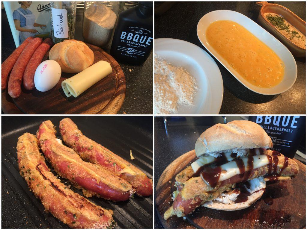 Panierte Frühstücksknacker
