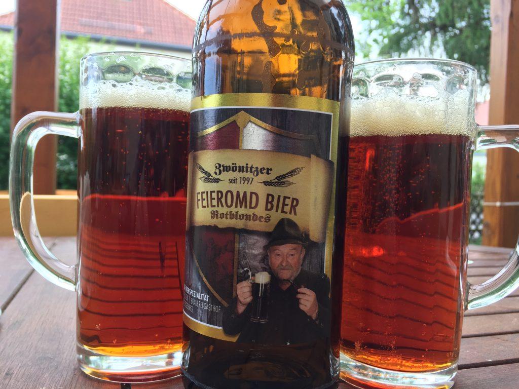 Zwönitzer Feieromd Bier Rotblondes