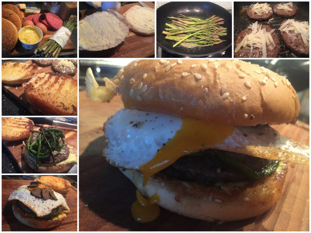 Wildspargel-Trüffel-Burger
