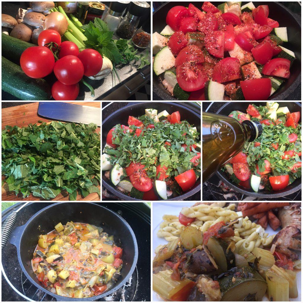 Gemüsebeilage aus dem Dutch Oven