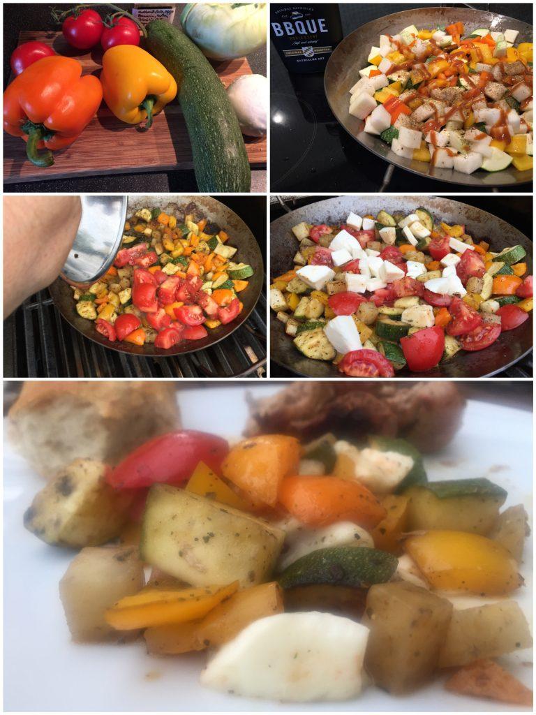 Grillgemüse mit Mozzarella
