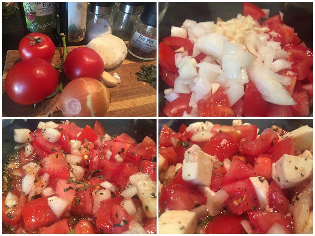 Tomatensalat mit Johannisbeeressig