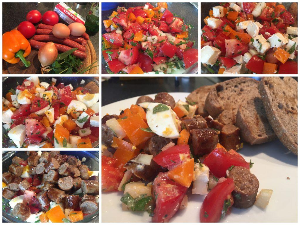 Tomaten-Paprika-Salat mit Merguez