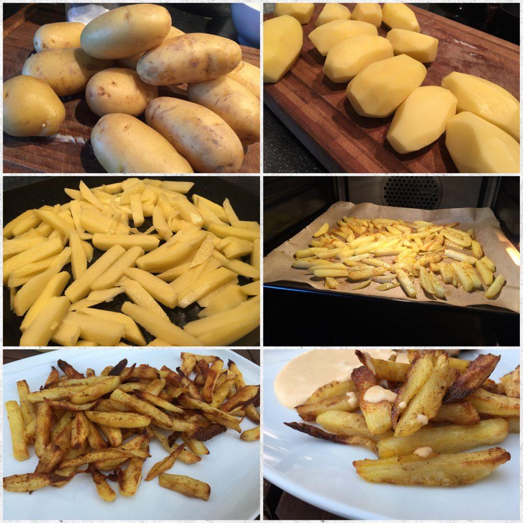 Pommes aus dem Backofen