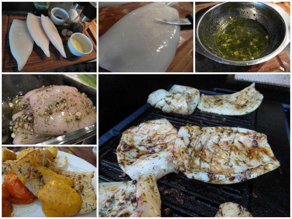 Australische Tintenfischsteaks vom Grill