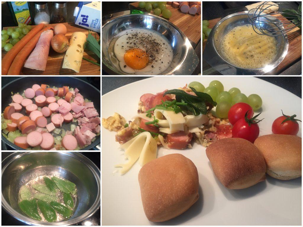 Rührei mit frittiertem Salbei