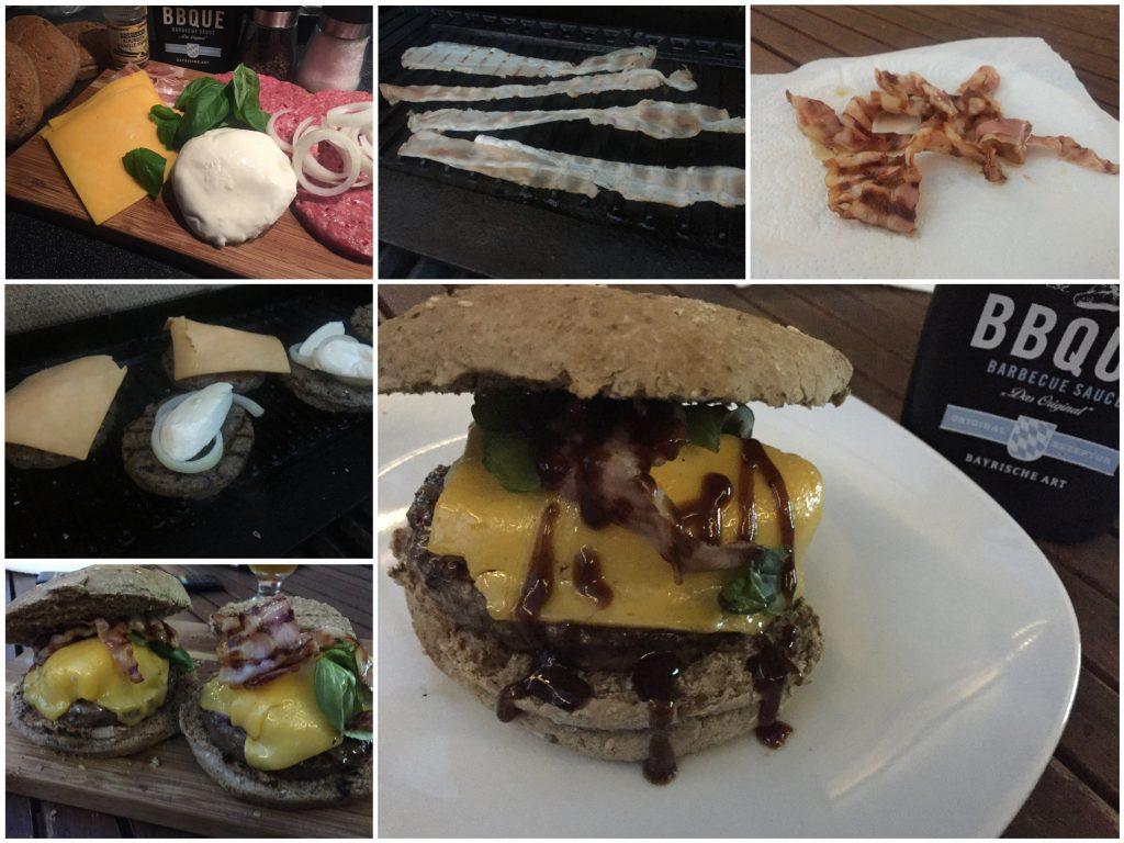 Burger mit Vanille und Mozzarella