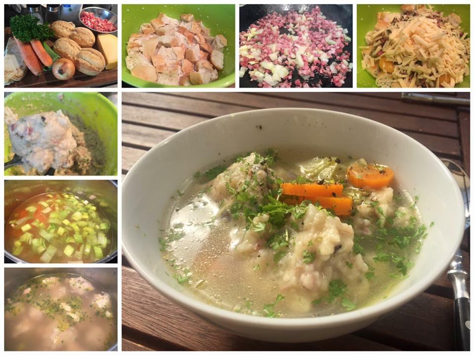 Speck-Käse-Knödel-Suppe