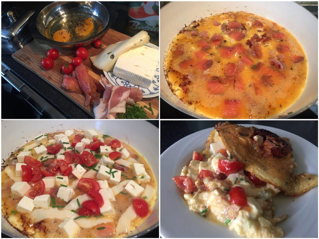 Omelett mit Graved Lachs