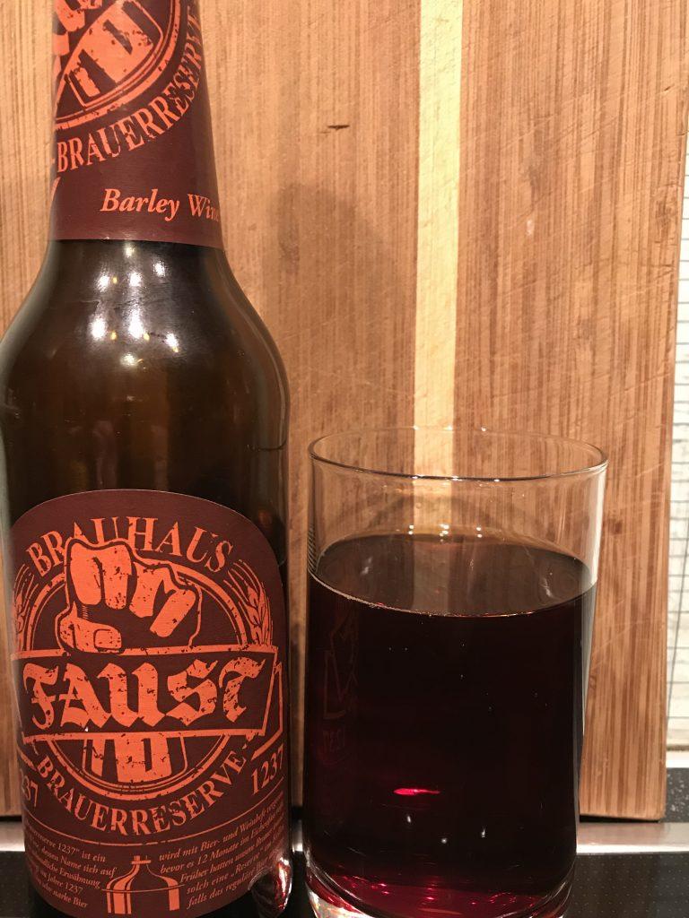 Faust Brauereireserve 1237 Barley Wine