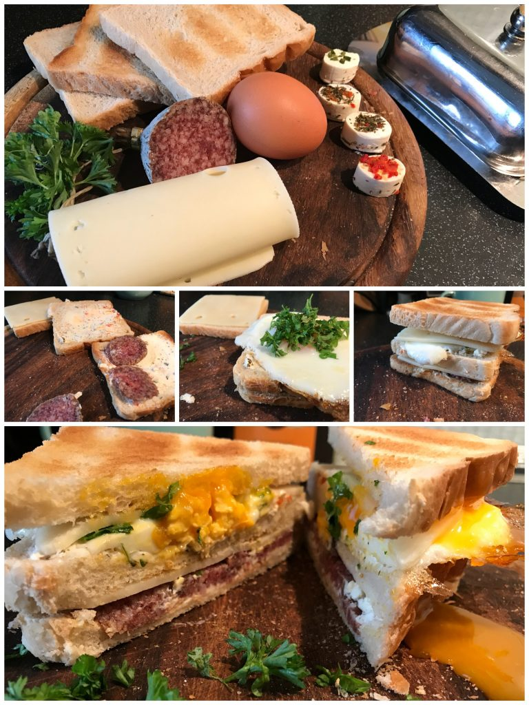 Dreiertoast-Sandwich