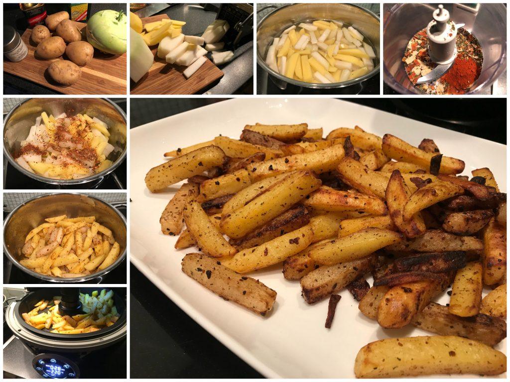 Kohlrabi-Kartoffel-Pommes