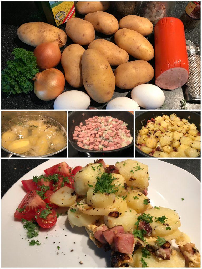 Bauernfrühstück mit Jagdwurst