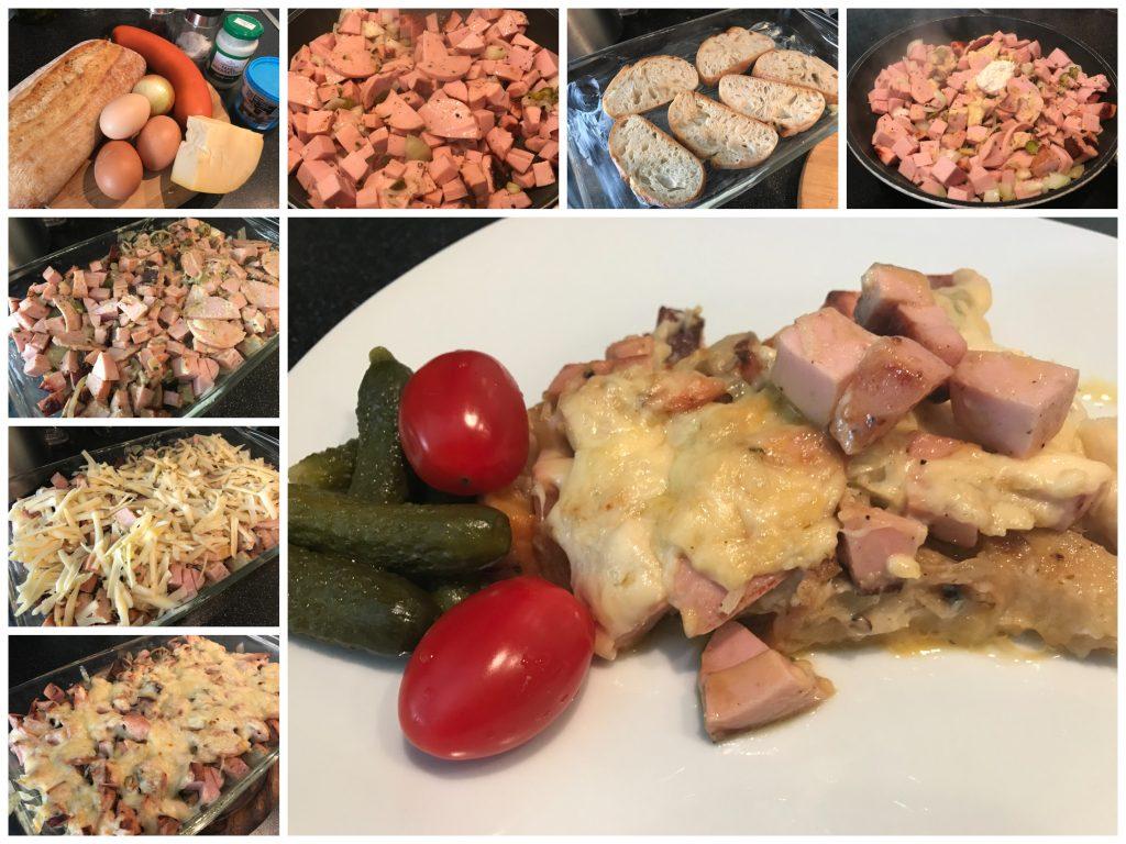 Überbackenes Ciabatta-Omelette
