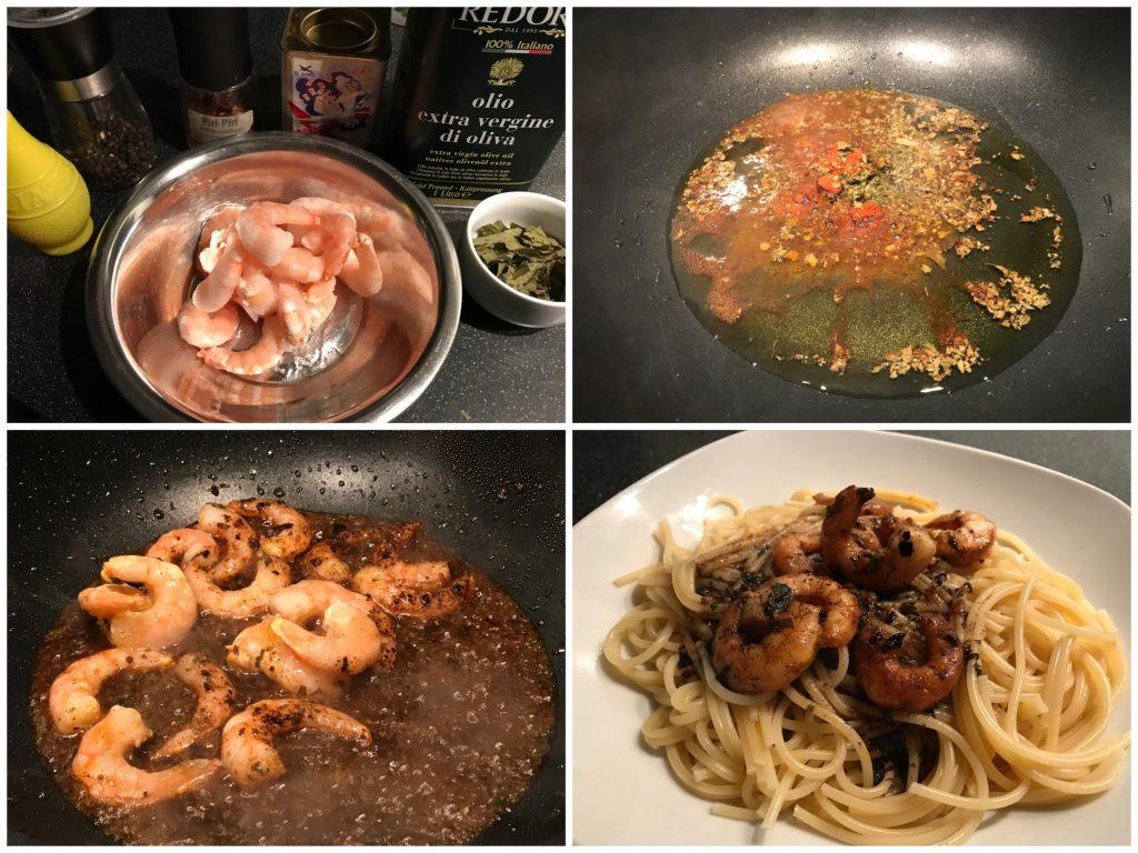 Shrimps in würzigem Olivenöl