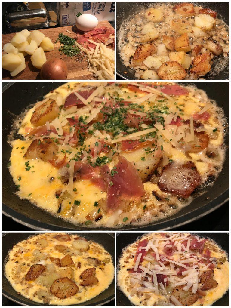 Bauernfrühstück mit Serrano-Schinken