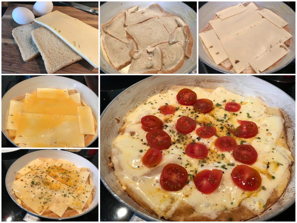 Toast-Pfannen-Pizza