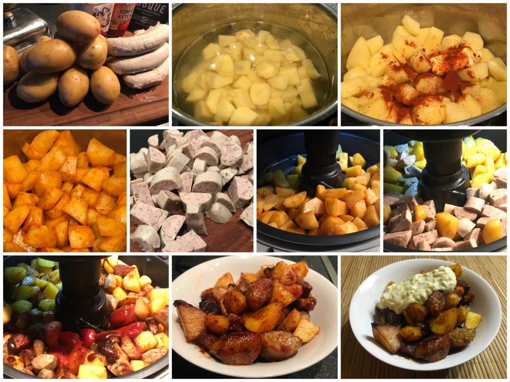 Kartoffel-Bratwurstpfanne mit Remoulade