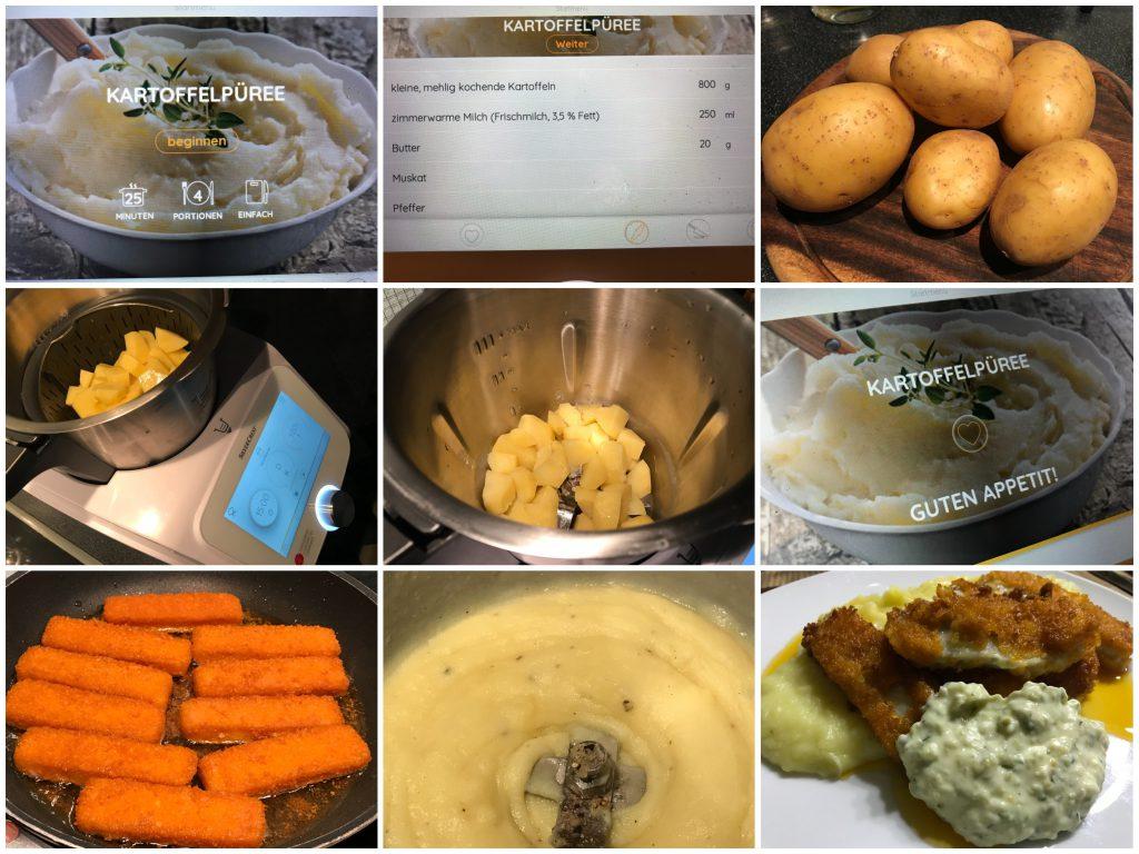 Kartoffelpüree mit Fischstäbchen