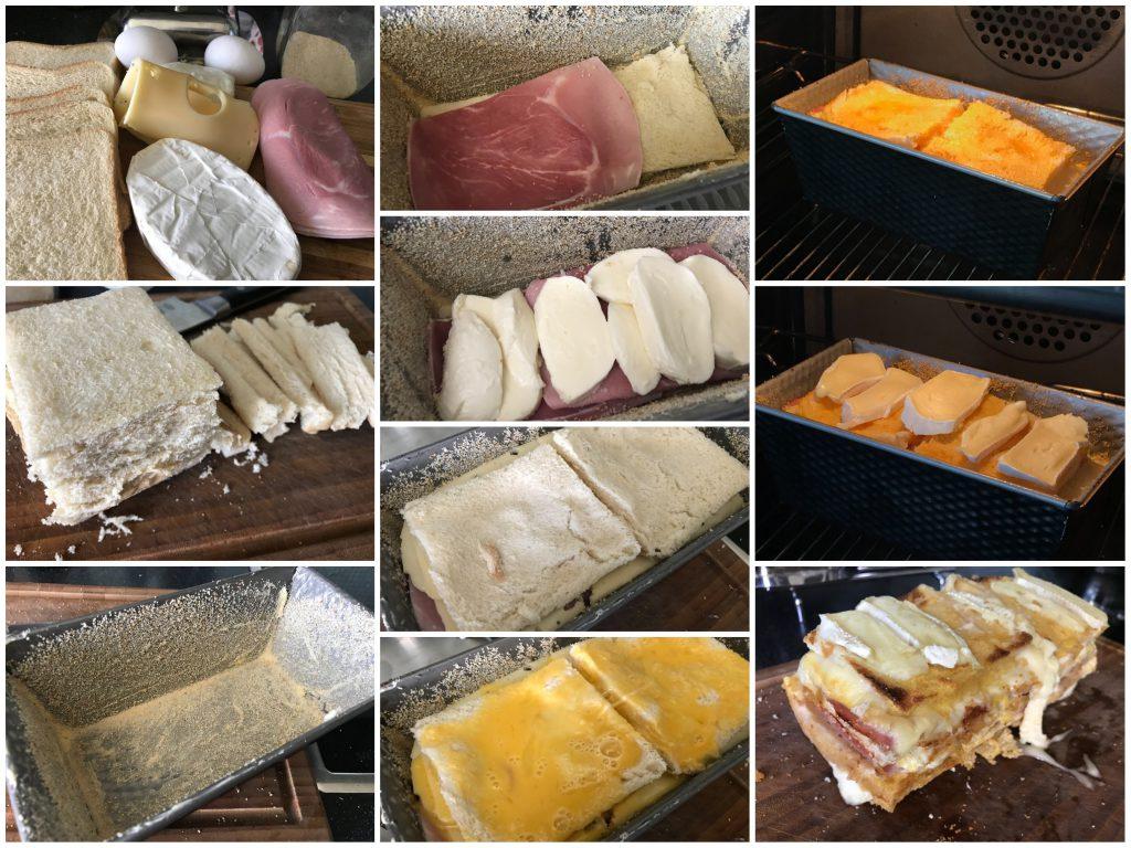"""Toast-""""Lasagne"""" mit drei Sorten Käse"""