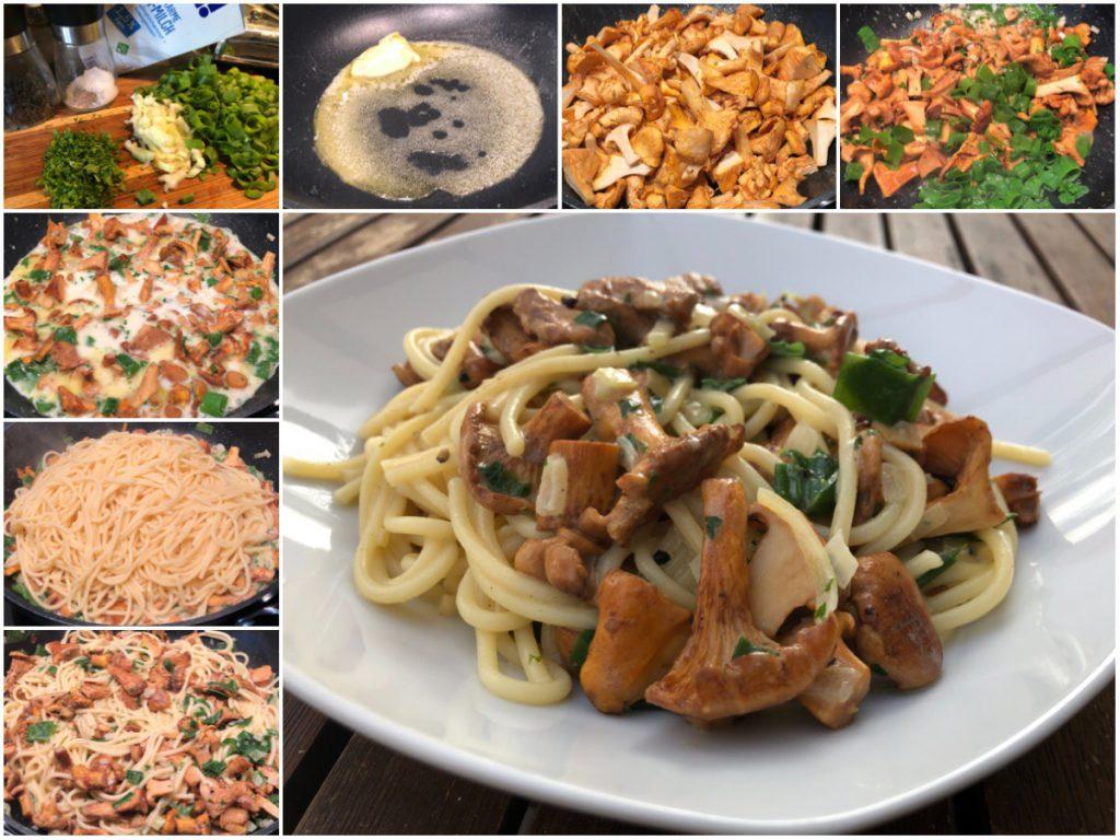 Pfifferlinge mit Spaghetti