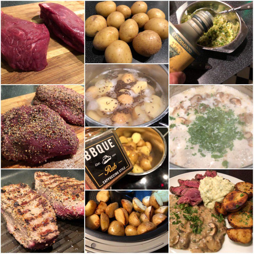 Biorindersteak mit Trüffelremoulade