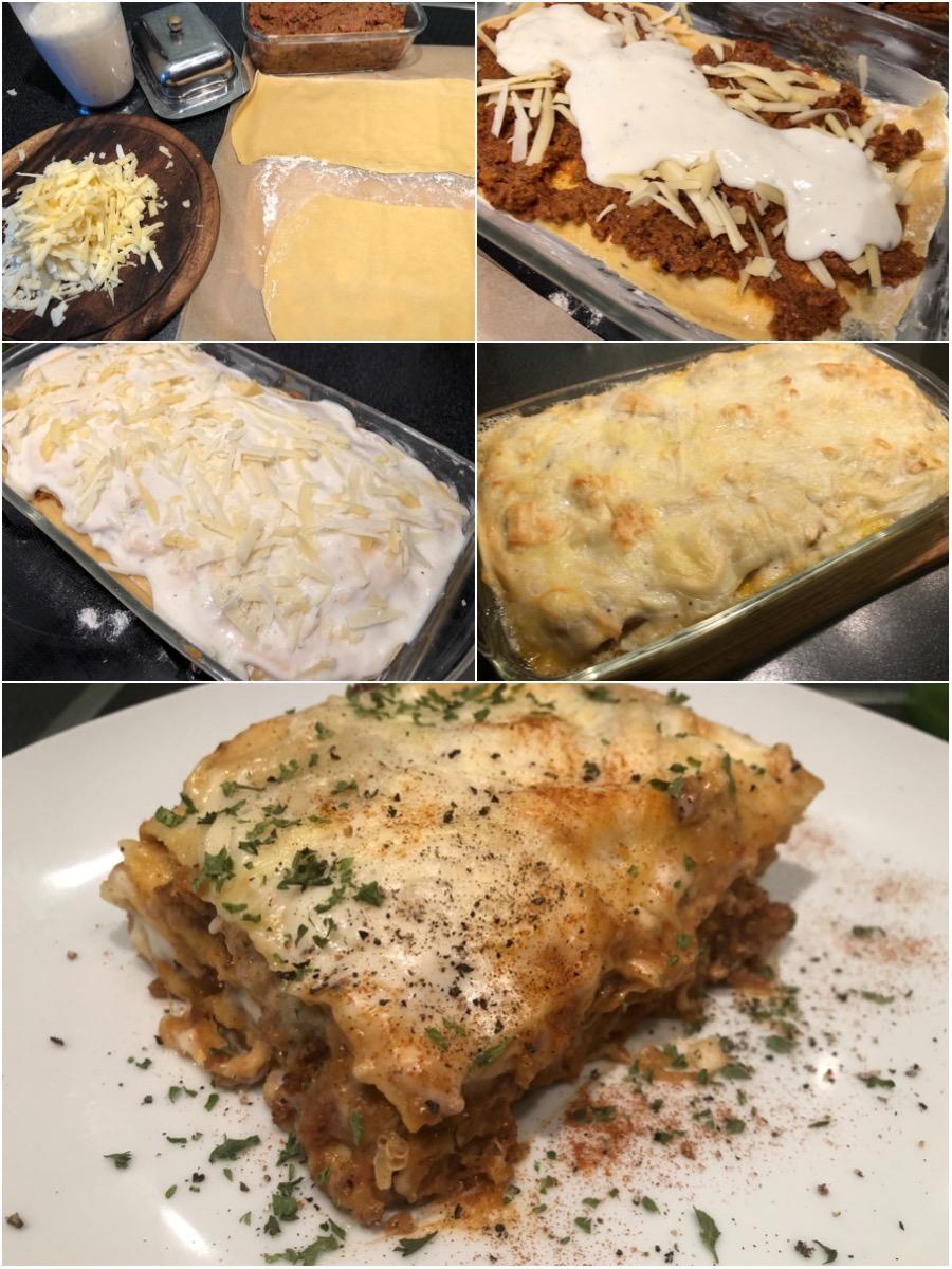 Brotbolognese-Lasagne