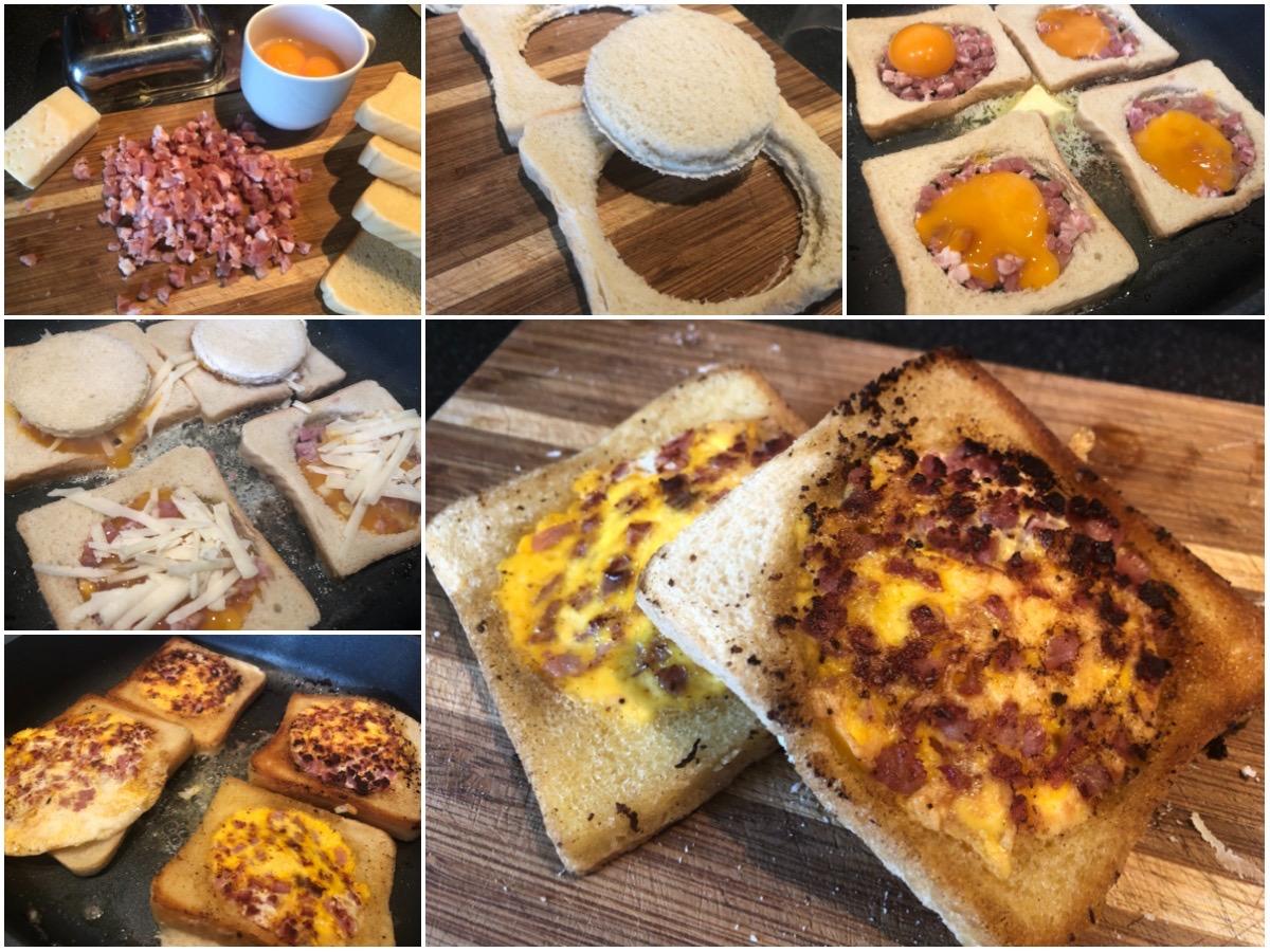 Gefülltes Toast