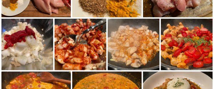 Indisch angehauchtes Hähnchen-Curry
