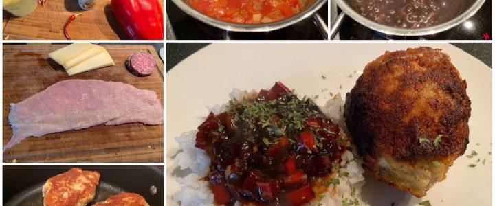 Gefülltes Putenschnitzel asiatisch angehaucht